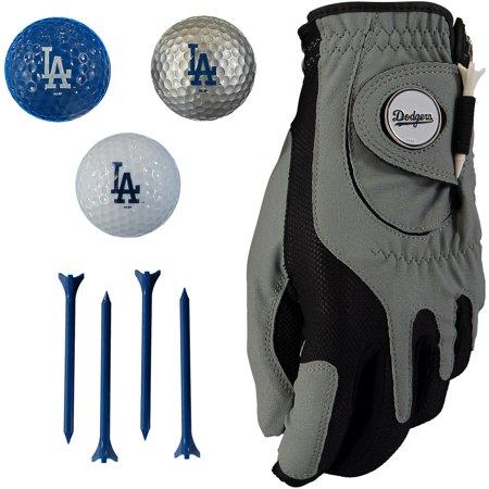 Los Angeles Dodgers Golf Balls, Tees & Glove Set - No