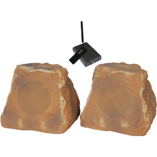 Tic Industries Wrs010cn Outdoor Wireless Rock Speakers Canyon; Pair