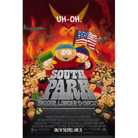South Park Bigger Longer and Uncut Movie Poster (11 x