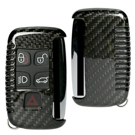 new concept 517d8 da46c GZYF 1PC Genuine Carbon Fiber Car Remote Key Fob Shell Case For Land Range  Rover