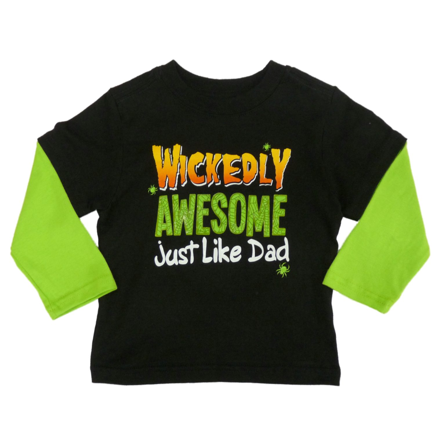 My Halloween Infant & Toddler Boys Black Wickedly Awesome Long Sleeve Shirt