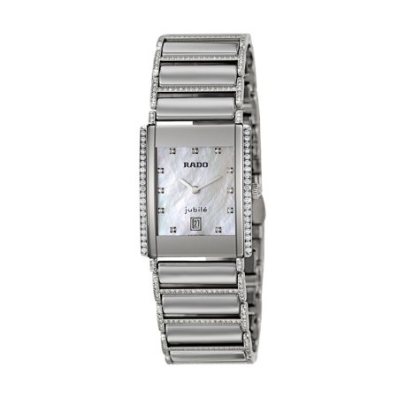 Jubile Womens Watch (Rado Integral Jubile Ceramic Steel Diamonds Womens Watch Date Quartz)