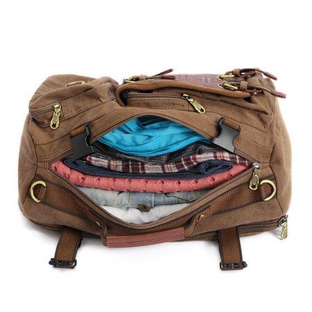 Meigar Men Retro Canvas Shoulder Bag Travel Tactical Backpack - image 5 de 9