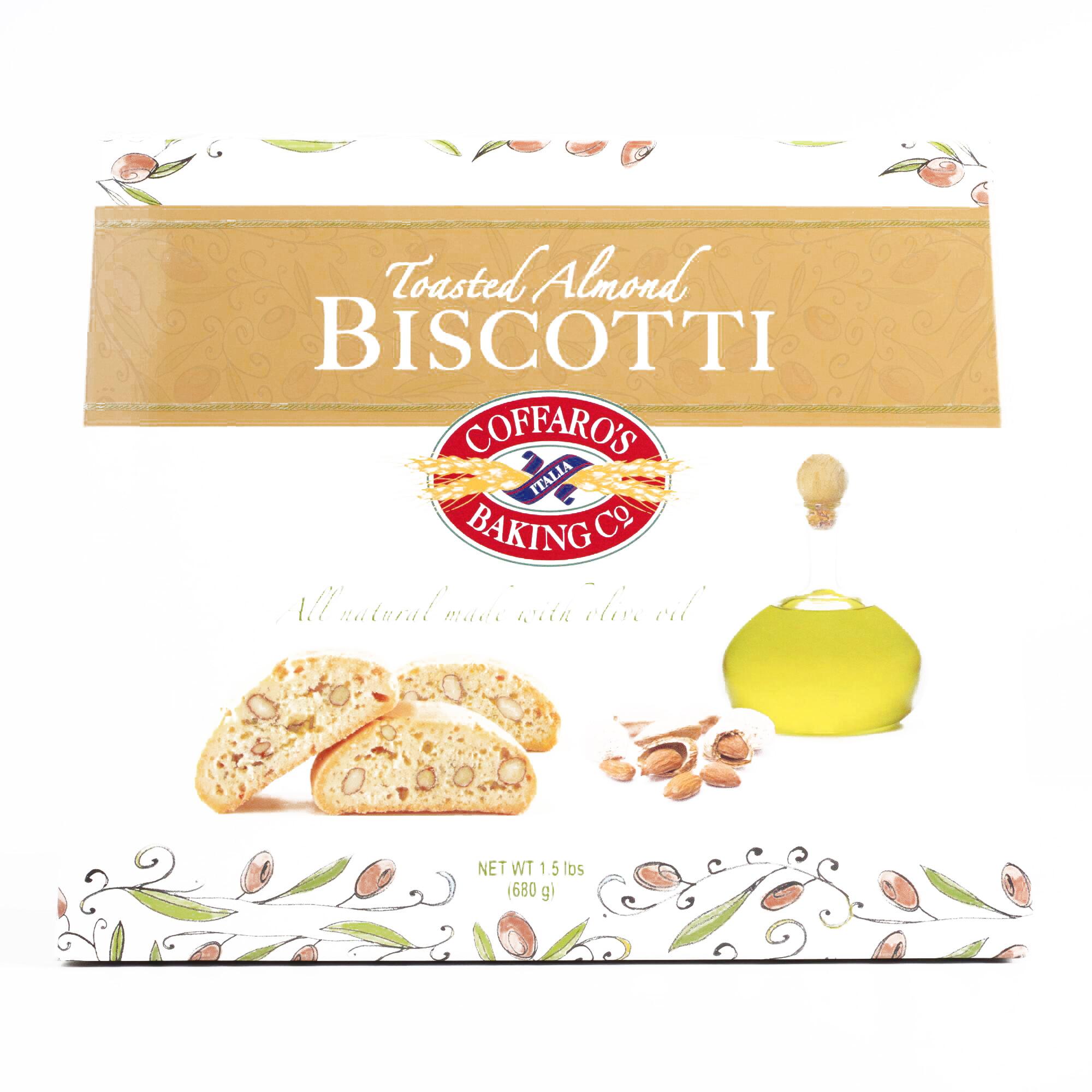 Coffaro Almond Biscotti 24 oz each (1 Item Per Order, not per case) by