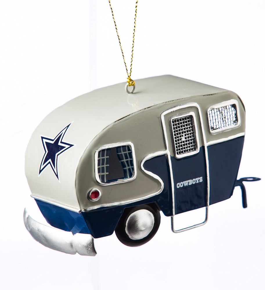 Dallas Cowboys Metal Camper Ornament