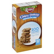 Keebler 100 Calorie Right Bites Chips Deluxe Chocolate Chip Cookies, 0.74 Oz., 6 Count