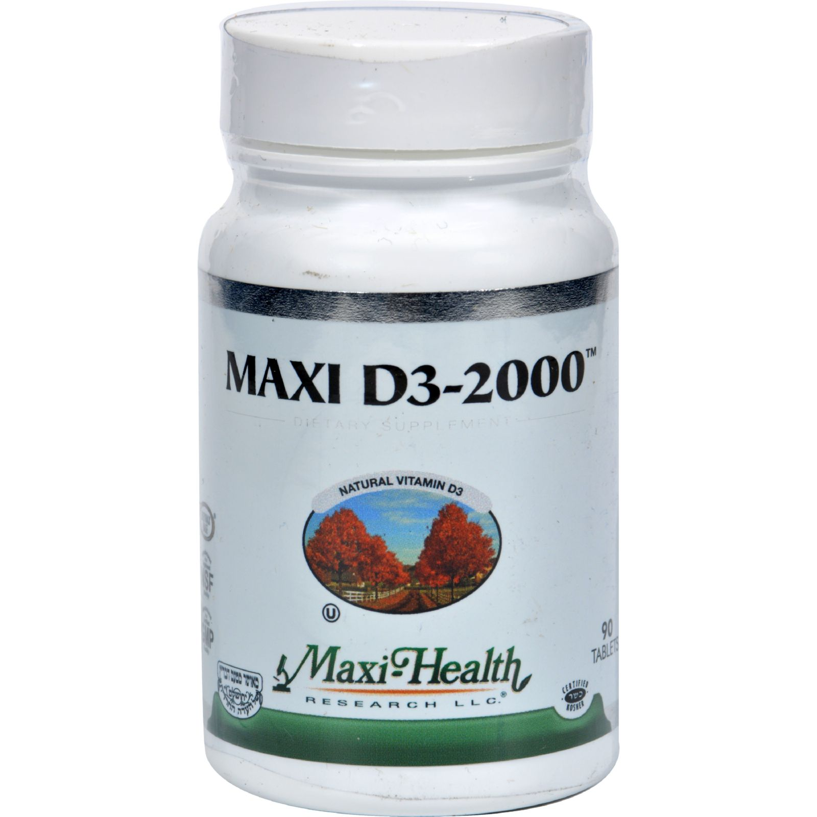 Maxi Health Kosher Vitamins Maxi D3 2000 - 2000 IU - 90 Tablets