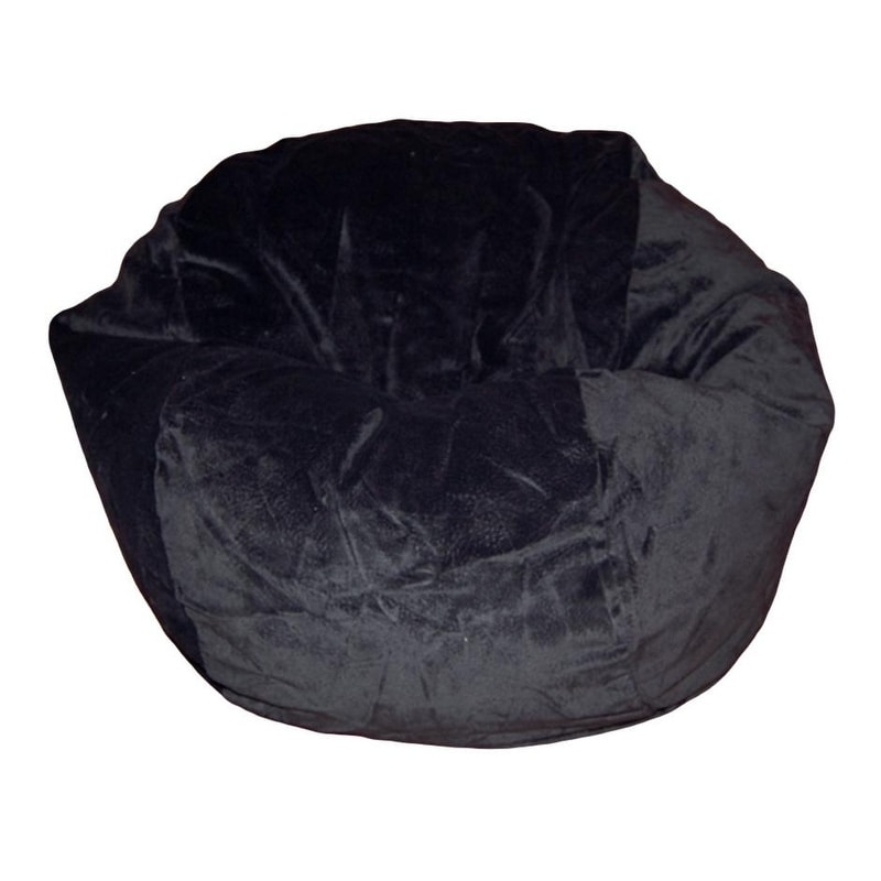 Ahh! Products  - 27 Inch Wide Washable Kid Bean Bag Chair - Microsuede Black