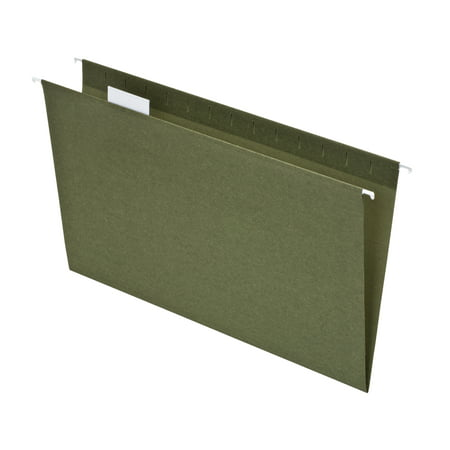 Pendaflex Hanging File Folder 50 Percent Recycled, Legal, Green, 25ct
