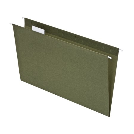 Essentials Hanging File Folders (Pendaflex Hanging File Folder 50 Percent Recycled, Legal, Green, 25ct)
