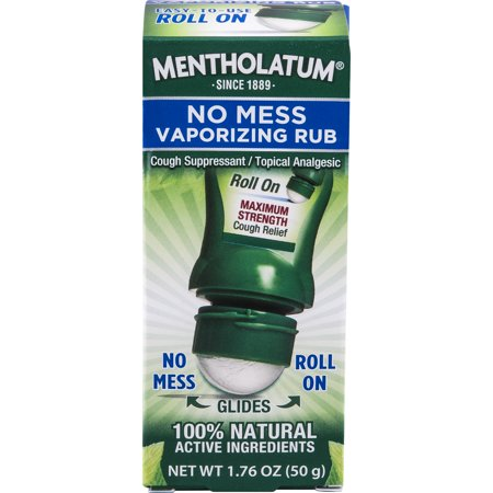 Mentholatum No Mess Vaporizing Rub 1.76 oz (Cooling Leg Rub)