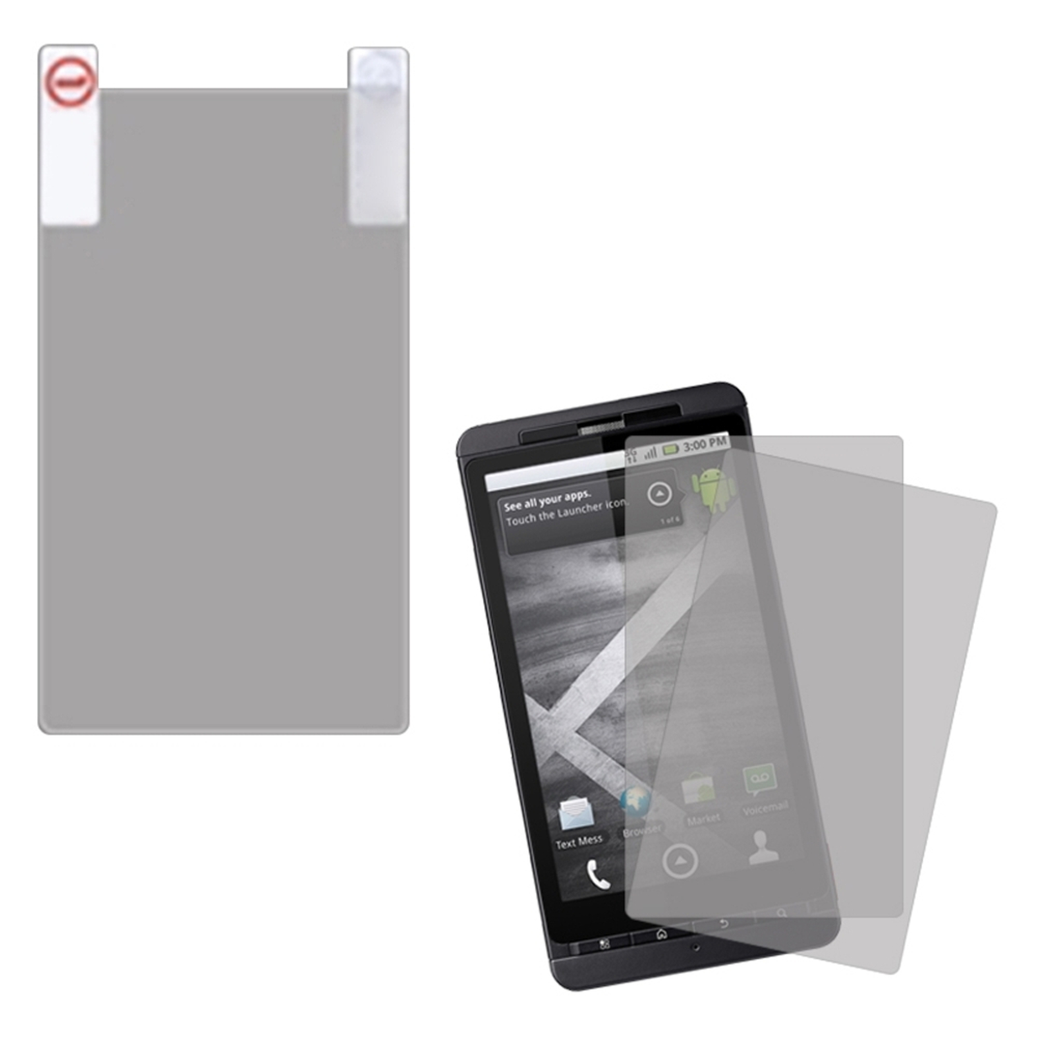 Insten Protector Twin Pack For MOTOROLA MB810 Droid X Milestone X MB870 Droid X2