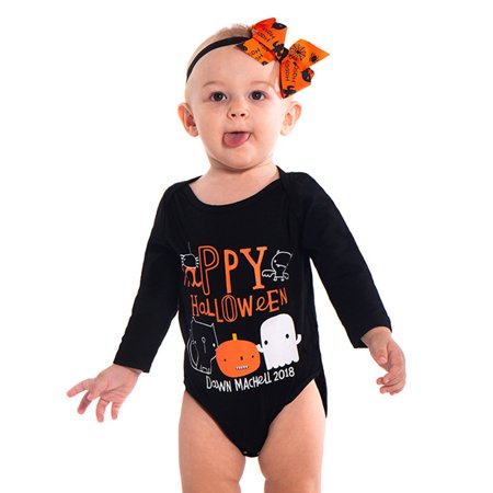 Mosunx Toddler Infant Baby Girls Boys Letter Romper Jumpsuit Halloween Costume Outfits - Boy Dressing As A Girl For Halloween