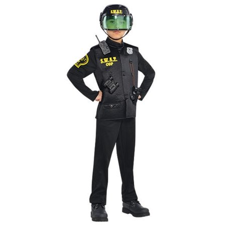 Police Swat Officer Deluxe Costume Boys Child Medium 8-10 - Kids Swat Costumes