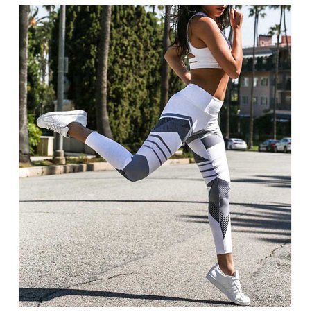 Sports Style Women Stretchy High Waist Running Jogging Leggings Elastic Yoga Pants Fitness Workout Clothes - Walmart.com