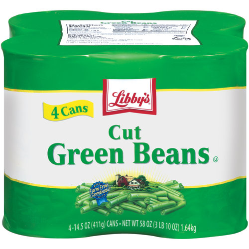 Libby's Cut Green Beans, 14.5 oz, 4 ct