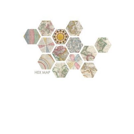 Hex Map : Large Hexagon Graph Paper Notebook ()