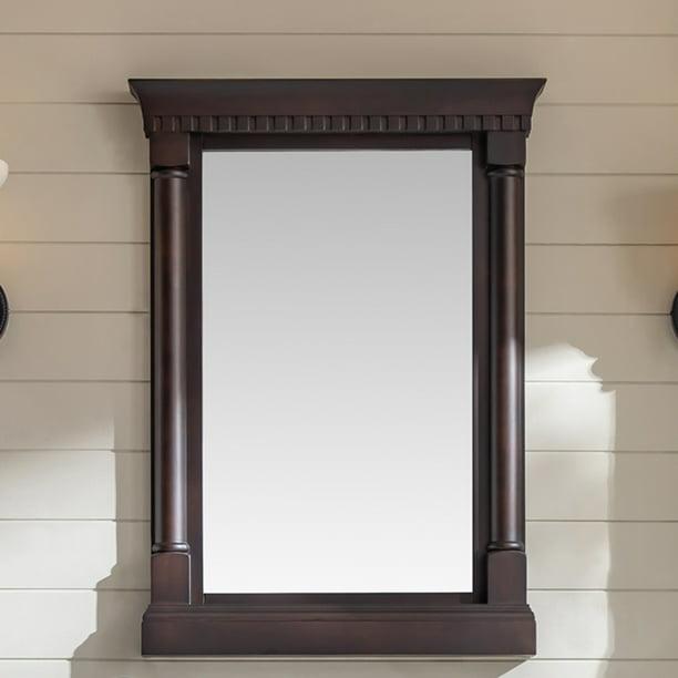 Eviva Preston 24 In Aged Chocolate Wall Mount Bathroom Mirror Walmart Com Walmart Com