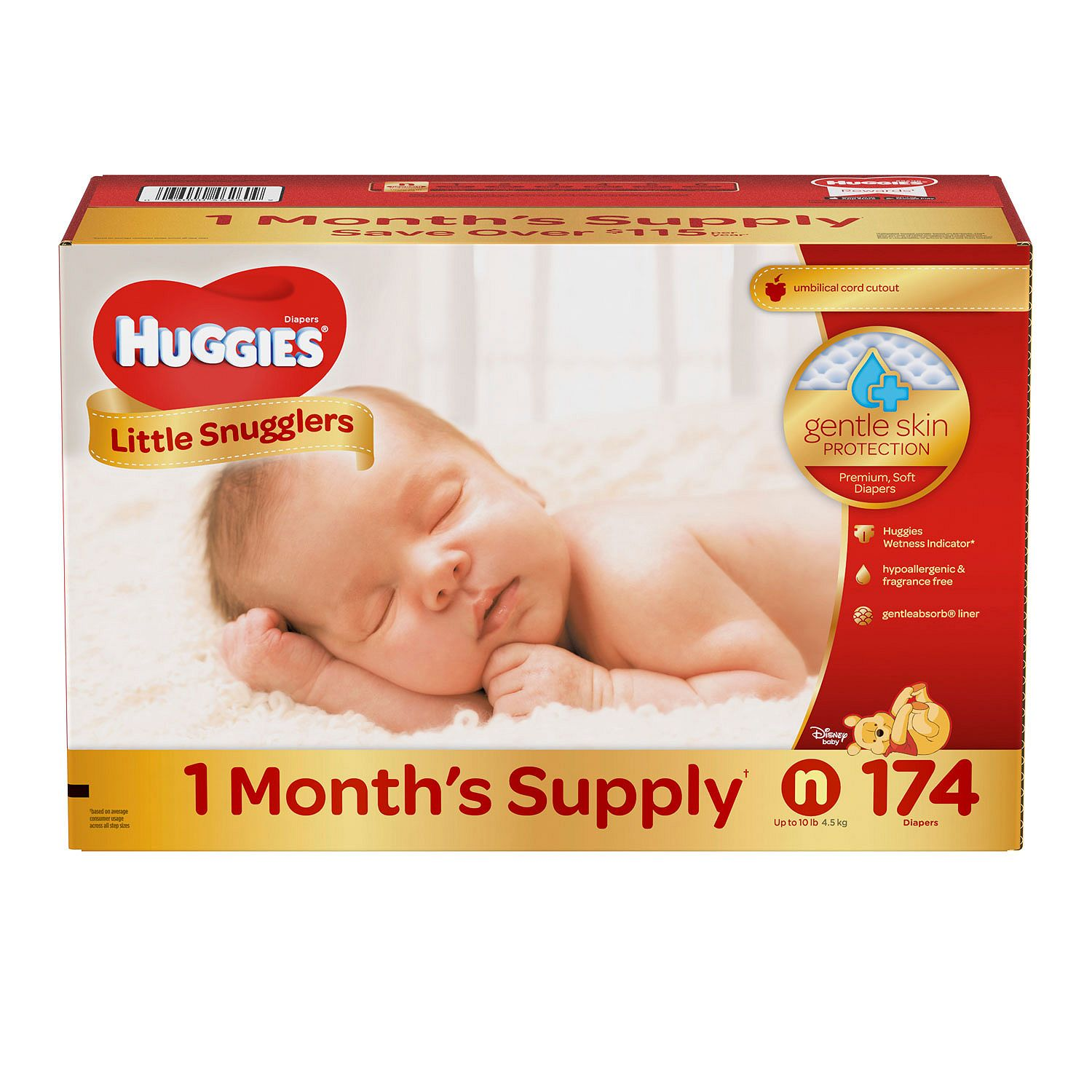 Huggies Little Snugglers Diapers Size Newborn 174 ct. ( Weight up to 10 lbs.) Bulk Qty, Free Shipping... by Branded Diapers