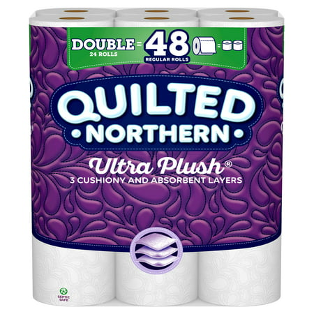 Quilted Northern Ultra Plush Toilet Paper, 24 Double (Great Northern Locations)