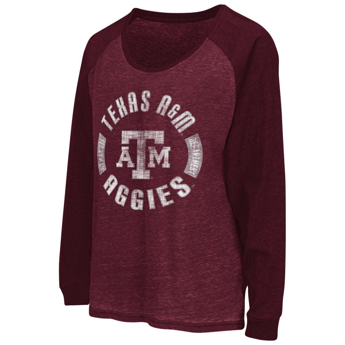 "Texas A&M Aggies Women's NCAA ""Balance"" L/S Banded Bottom Top Shirt"
