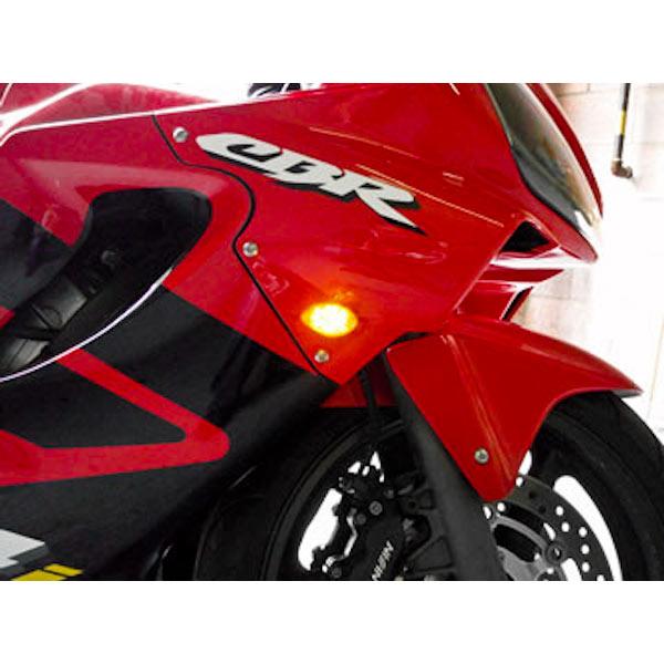 Flush Mount LED Turn Signals Indicators Smoke Lens For 1997-1999 Honda CBR 600 F3/F4/F4i - image 3 of 8