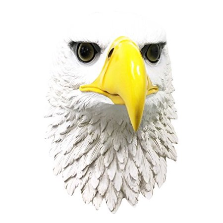 Large Home Decor Majestic Bald Eagle Wall Mount Bust Sculpture Plaque Symbol Of Strength Honor Longevity Emblem United States America