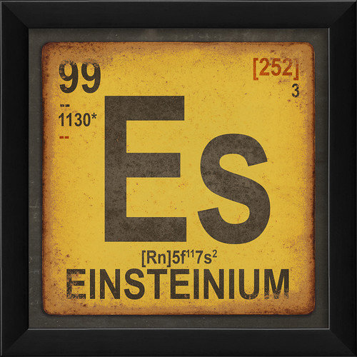 The Artwork Factory Einsteinium Element Framed Textual Art