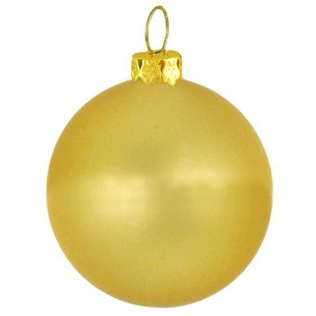 "Matte Twilight Gold Commercial Shatterproof Christmas Ball Ornament 3.25"" (80mm)"