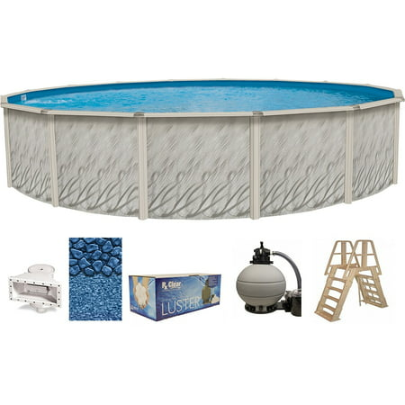 - Meadows Round Above-Ground Swimming Pools | Full Start-Up Kit {Choose Size}