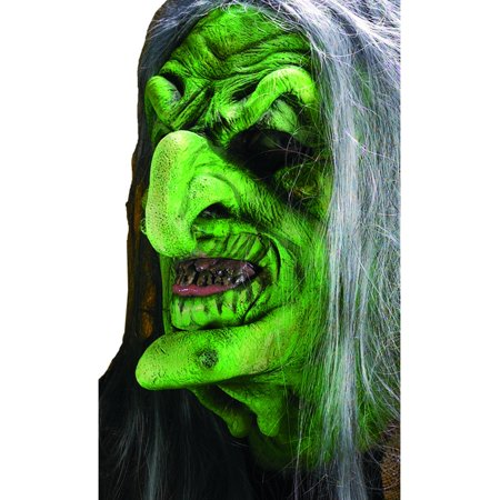 Reel FX Green Witch Theater Quality Makeup Costume - Make Grinch Mask