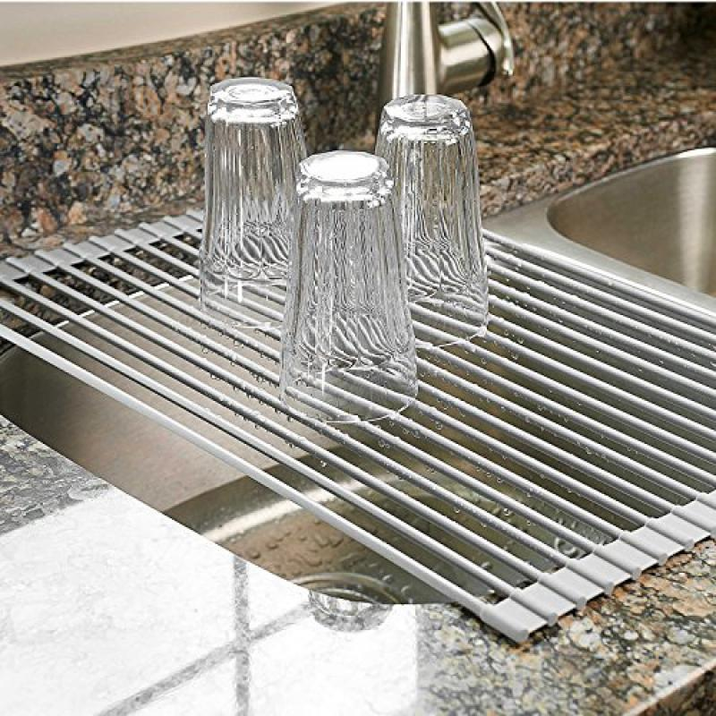 Surpahs Over the Sink Multipurpose Roll-Up Dish Drying Ra...