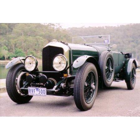 Bentley Metal (Bentley 1929 poster Metal Sign 8inx)