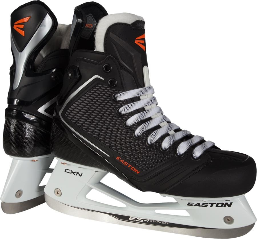 New Easton Mako II Junior IHS Ice Hockey Skates JR Size 4 D Heat Moldable by Easton