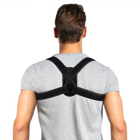 WALFRONT Posture Corrector Brace and Clavicle Support Straightener for Upper Back Shoulder