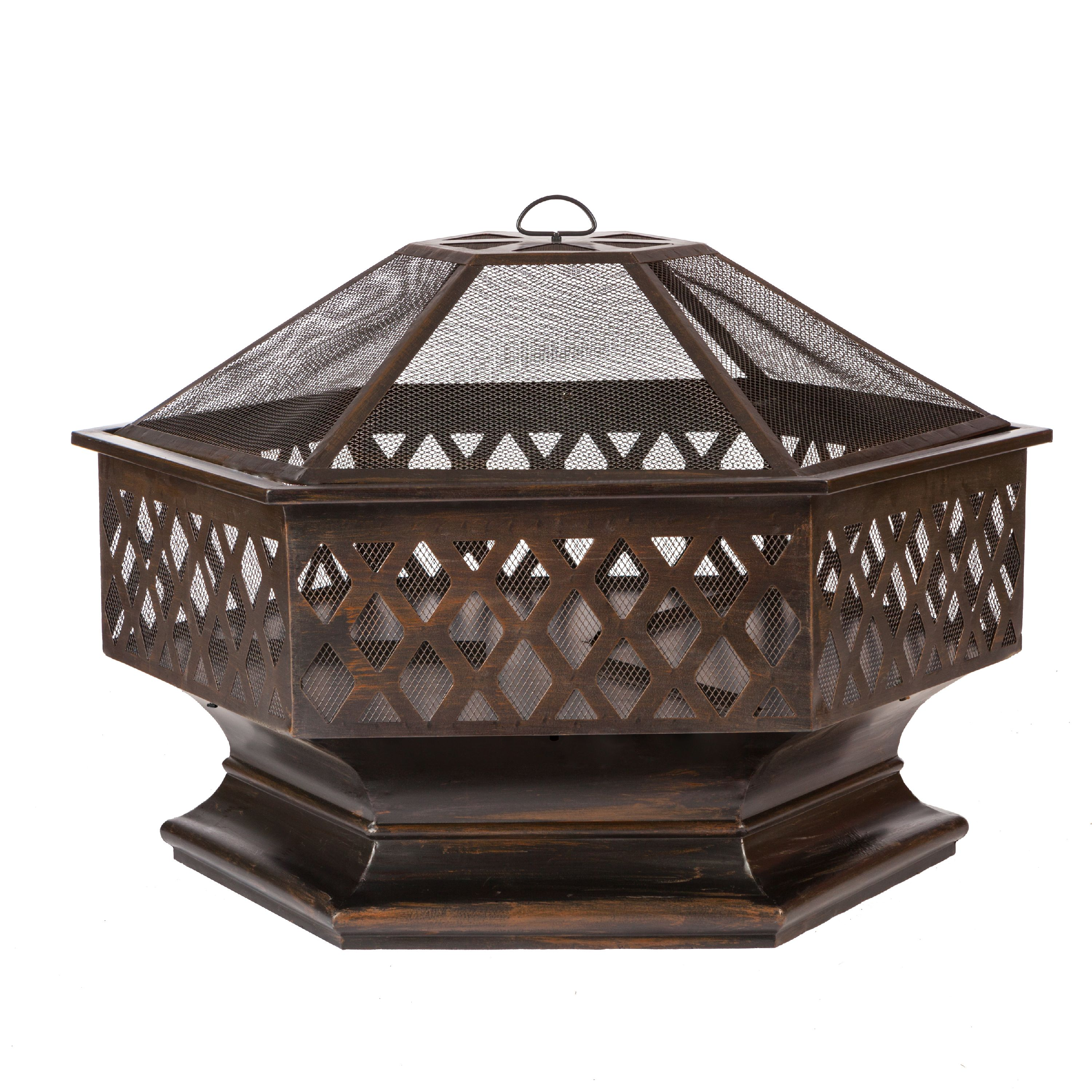 Ventura Hexagon Wood Burning Firepit by Well Traveled Living