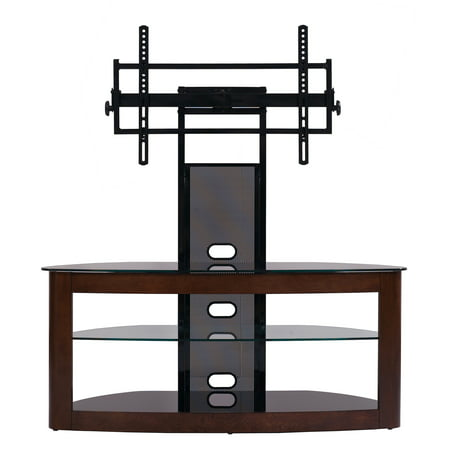 TransDeco TV Stand with Mount for 35 to 80-Inch OLED LED LCD 4K TV TD600DB Black Wood Lcd