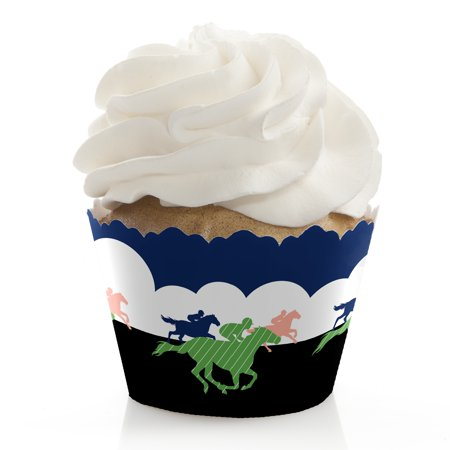 Kentucky Horse Derby - Horse Race Party Cupcake Wrappers - Set of 12 - Derby Party