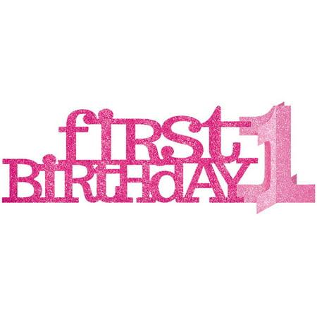 1st Birthday Girl Centerpiece