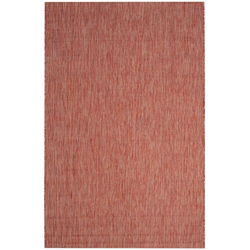 Safavieh Courtyard 8' X 11' Power Loomed Rug in Red and Red - image 2 de 6