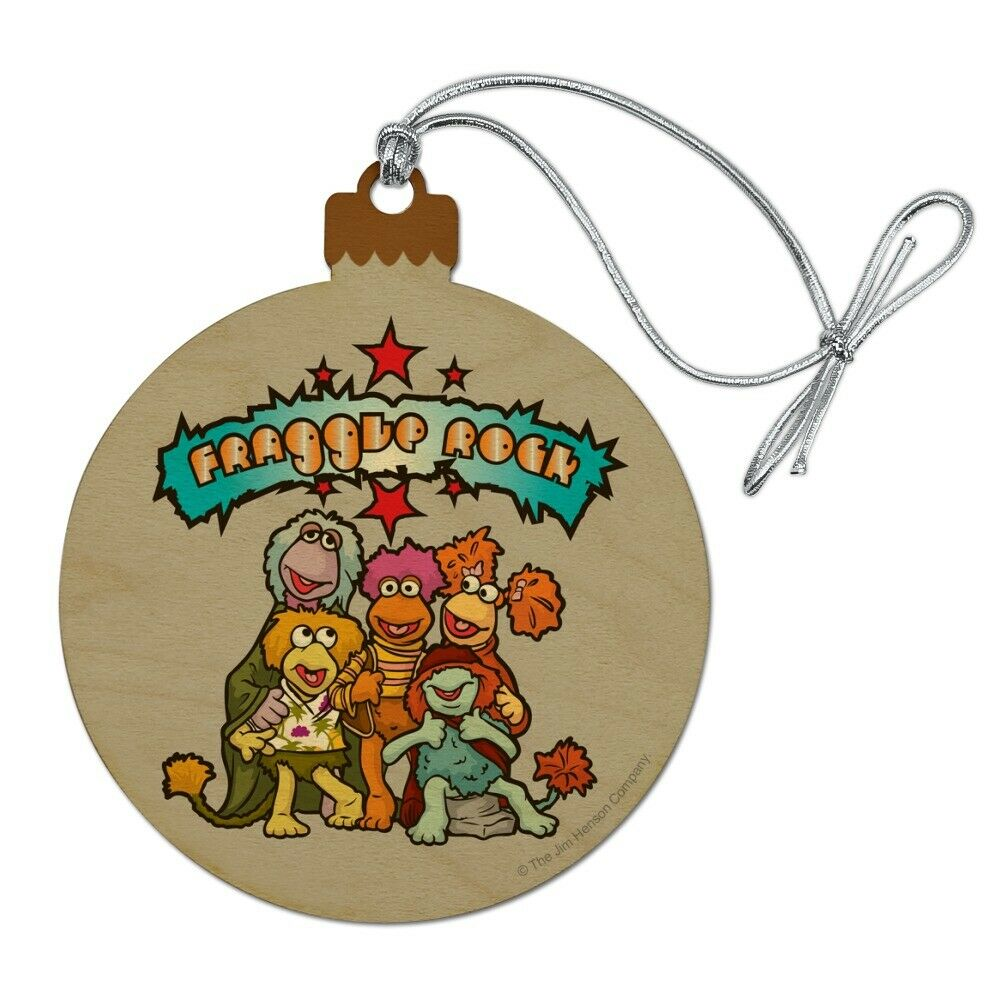Details about  /Fraggle Rock Cartoon Wood Christmas Tree Holiday Ornament