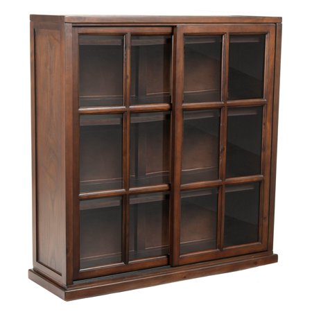 Alder Walnut Bookcase (Safavieh Dale Bookcase - Walnut)