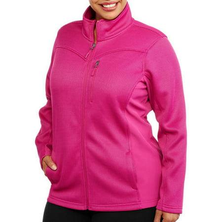 afe6a9ec151 Faded Glory - Women s Plus-Size Sporty Plush Fleece Jacket With ...