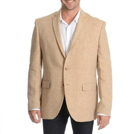 Daniel Hechter Men's Tan Linen Sport Coat Tan-46R - Walmart.com