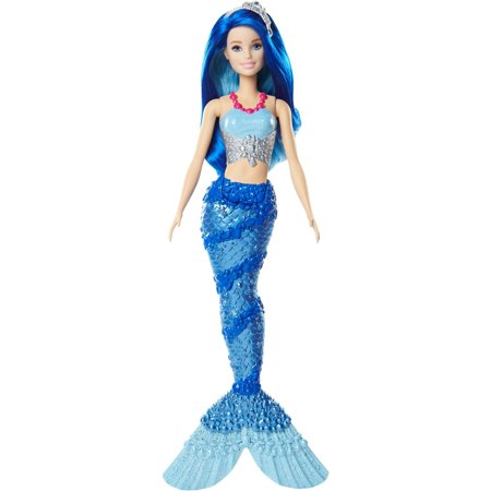 Barbie Dreamtopia Mermaid Doll with Blue Jewel-Themed Tail (Blue Mermaid Doll)