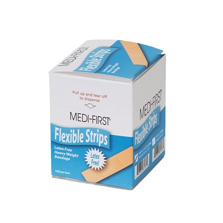Medique - 61433 Latex Free Heavy Weight 7/8 Inch x 3 Inch Woven Strip - 100 Per Box