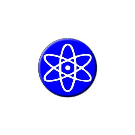 Atomic Symbol White Blue Lapel Hat Pin Tie Tack Small Round