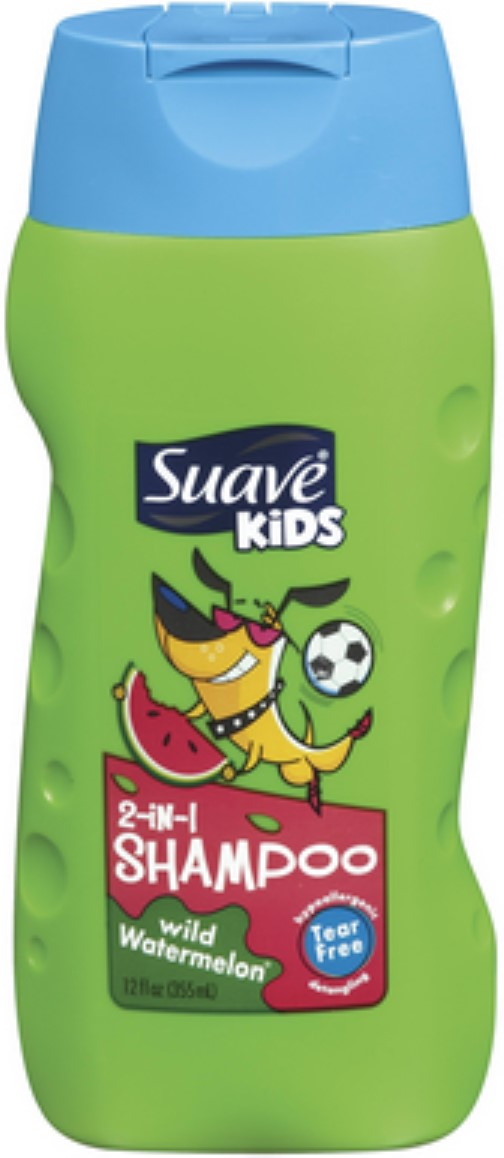 Suave Kids 2-in-1 Shampoo Wild Watermelon 12 oz (Pack of 6) by