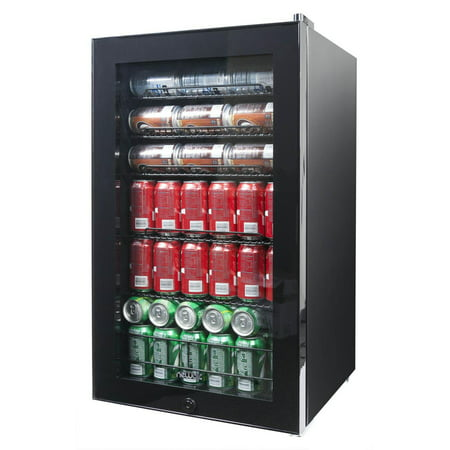 NewAir AB-1200B 126-Can Black Freestanding Beverage Center