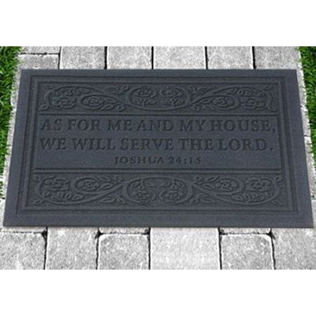 CBD As for Me and My House Door Mat Grey - image 1 of 1